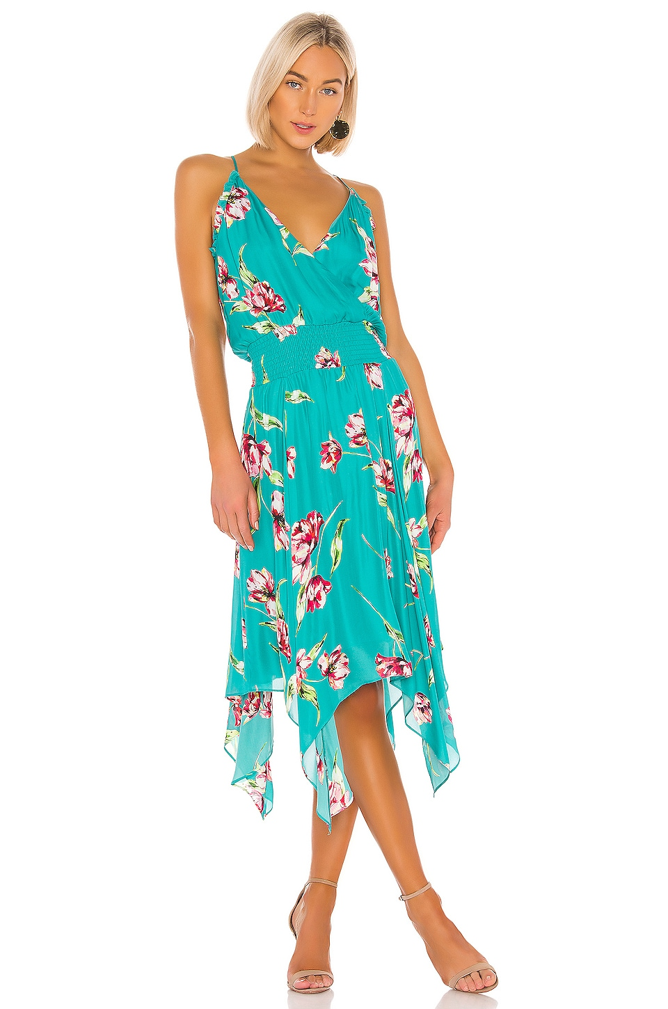 Parker Nolen Dress in Teal Magnolia