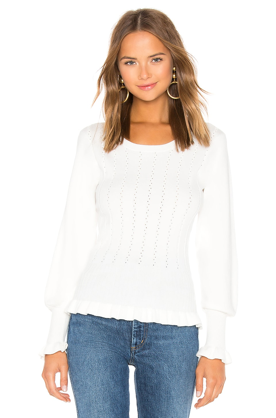 Parker Henri Sweater in Ivory