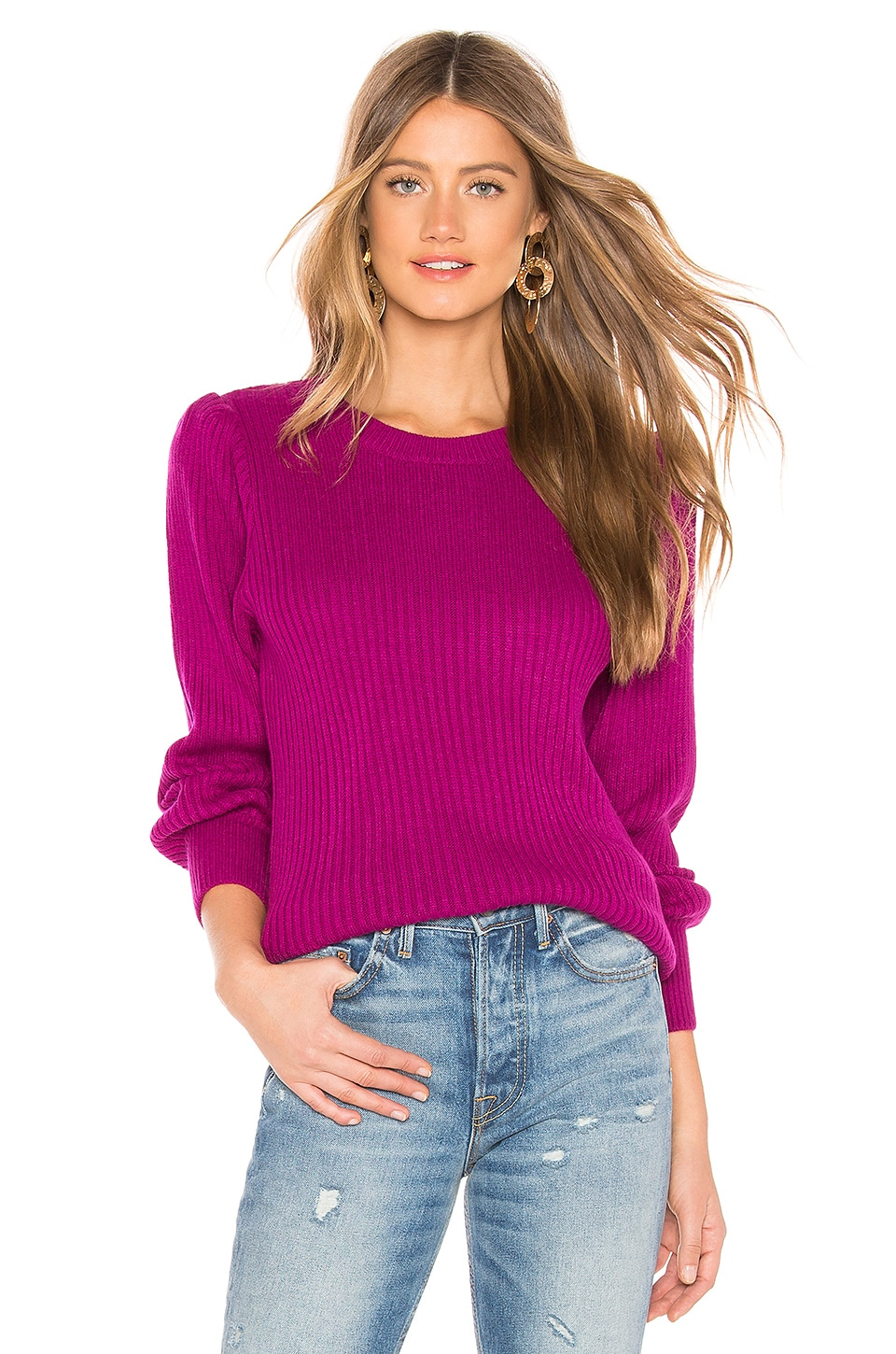 Parker PARKER MARCELINE SWEATER IN PINK.
