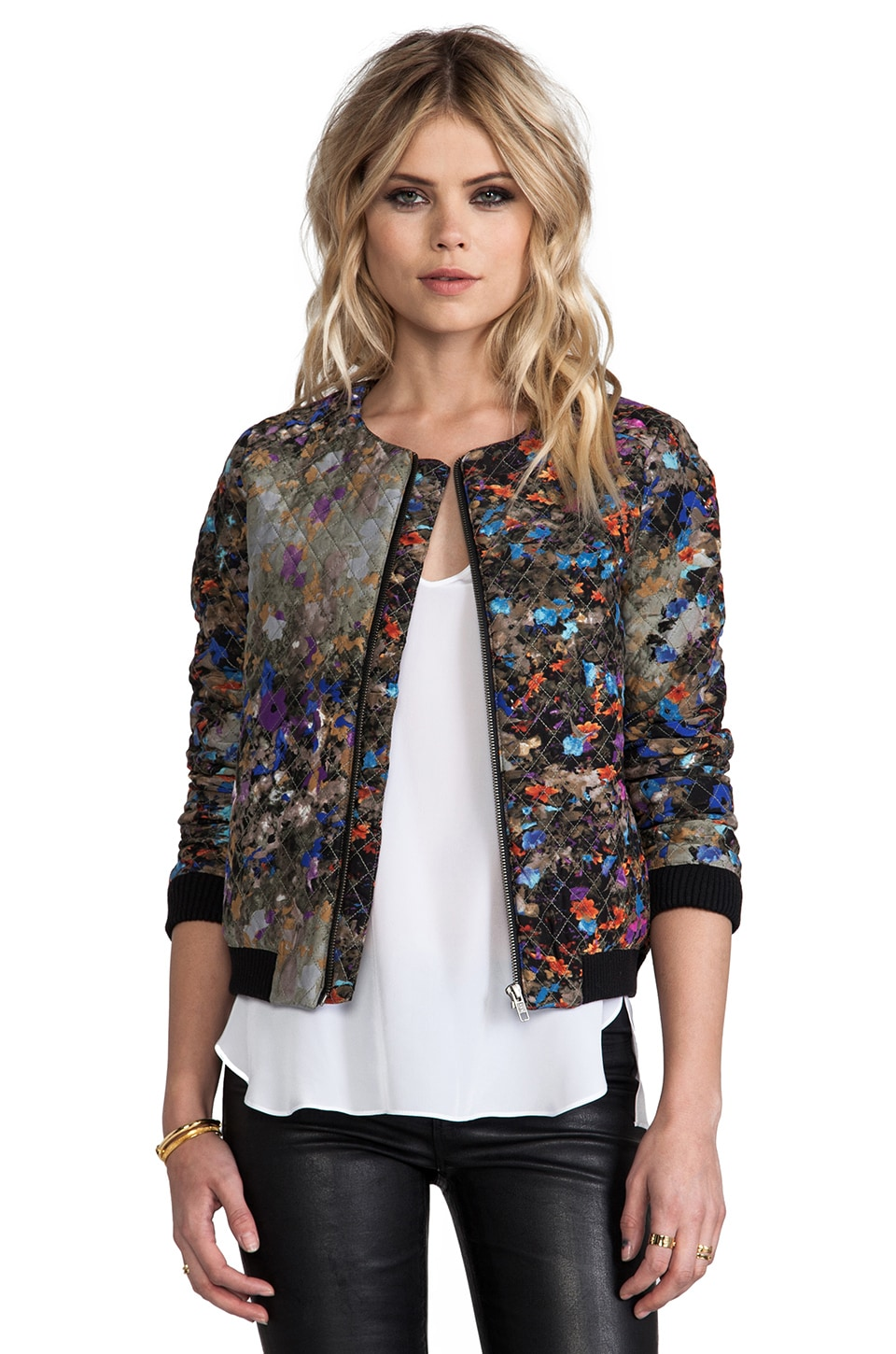 Parker Maverick Dark Floral Jacket in Enchanted