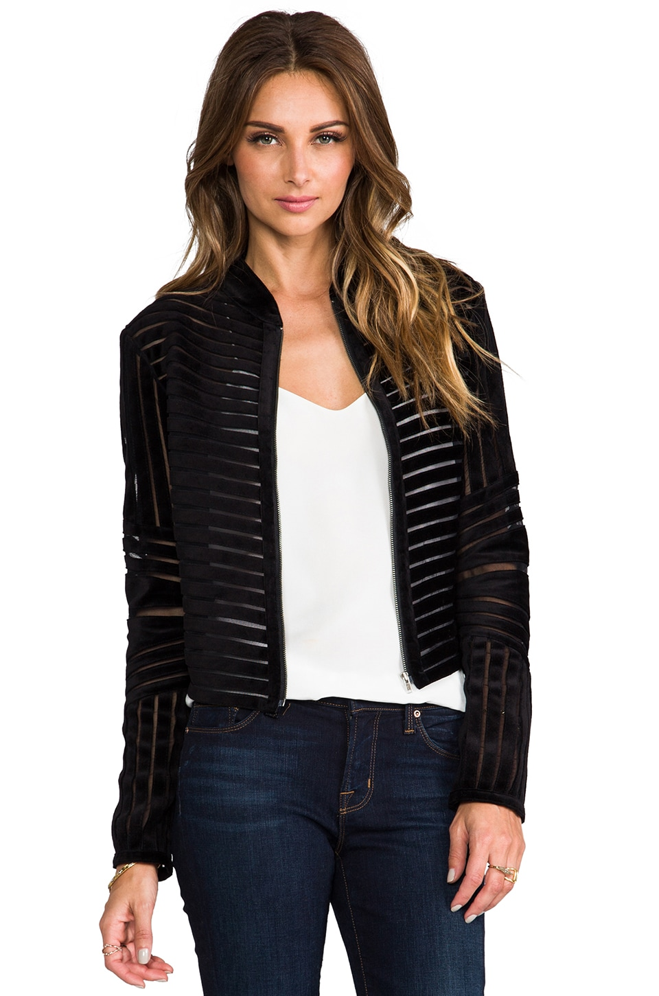 Parker Embroidered Aquata Jacket in Black