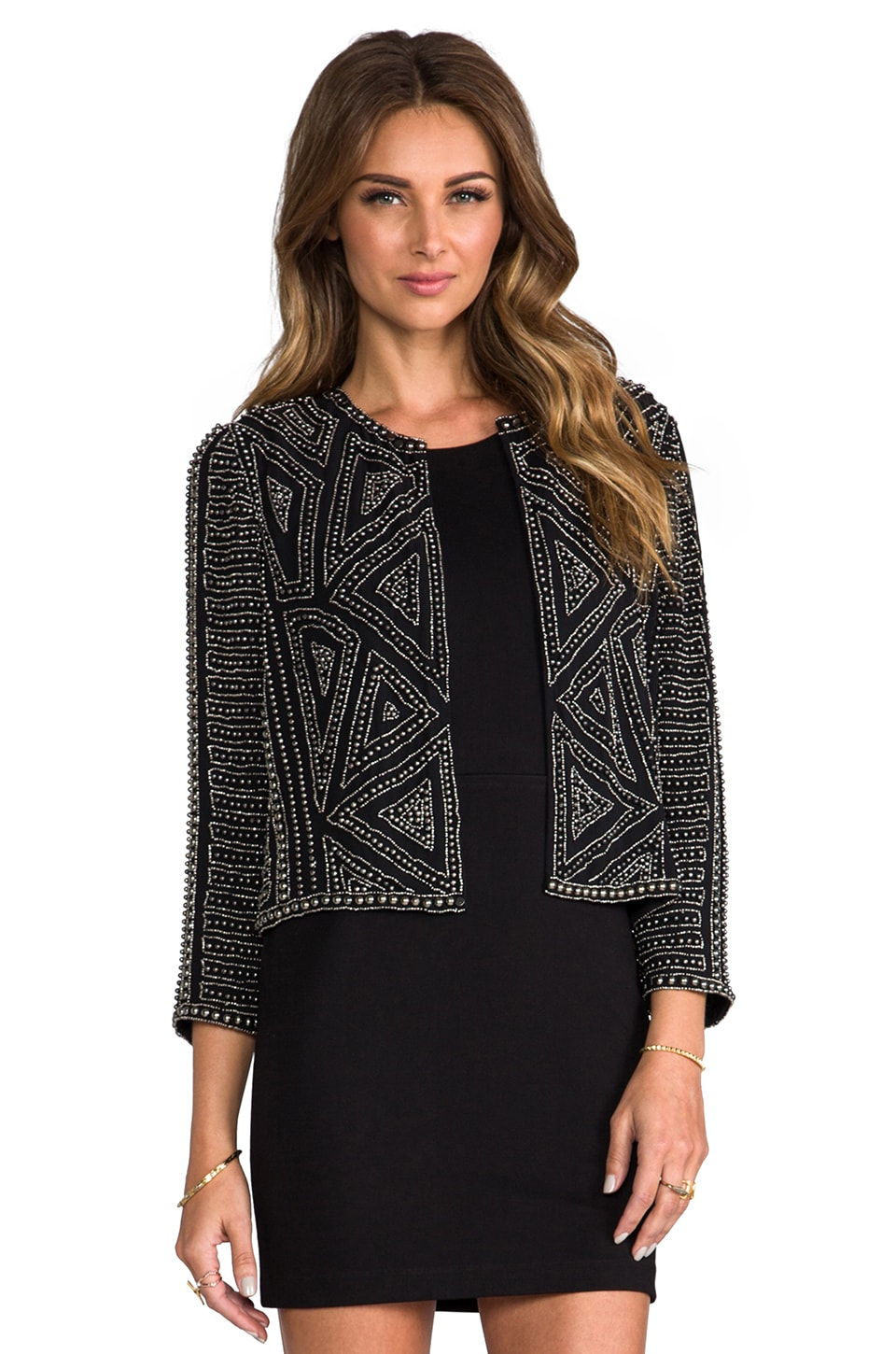 Parker Embellished Architect Jacket in Black