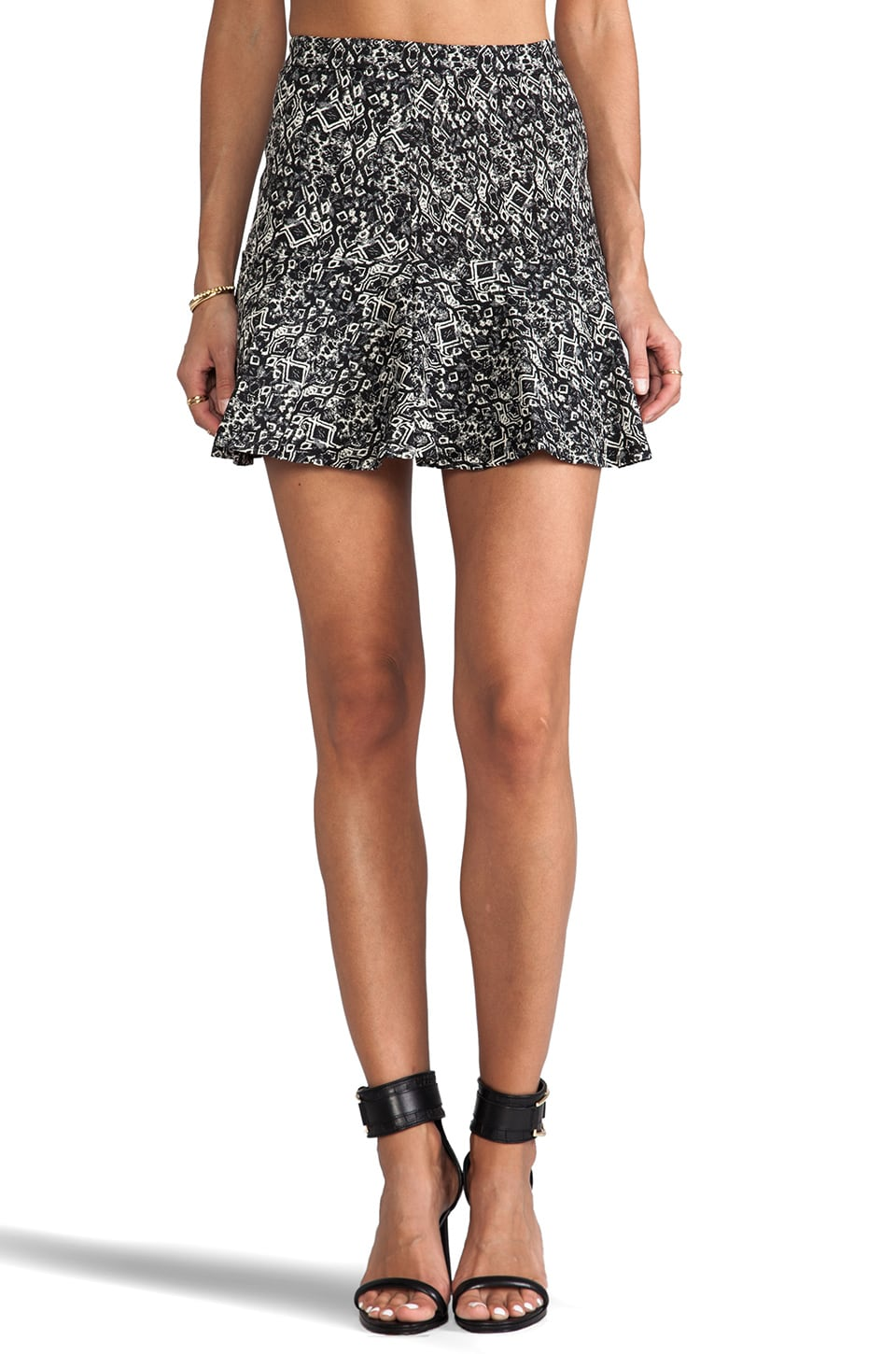 Parker Mckenna Skirt in Black/Cream