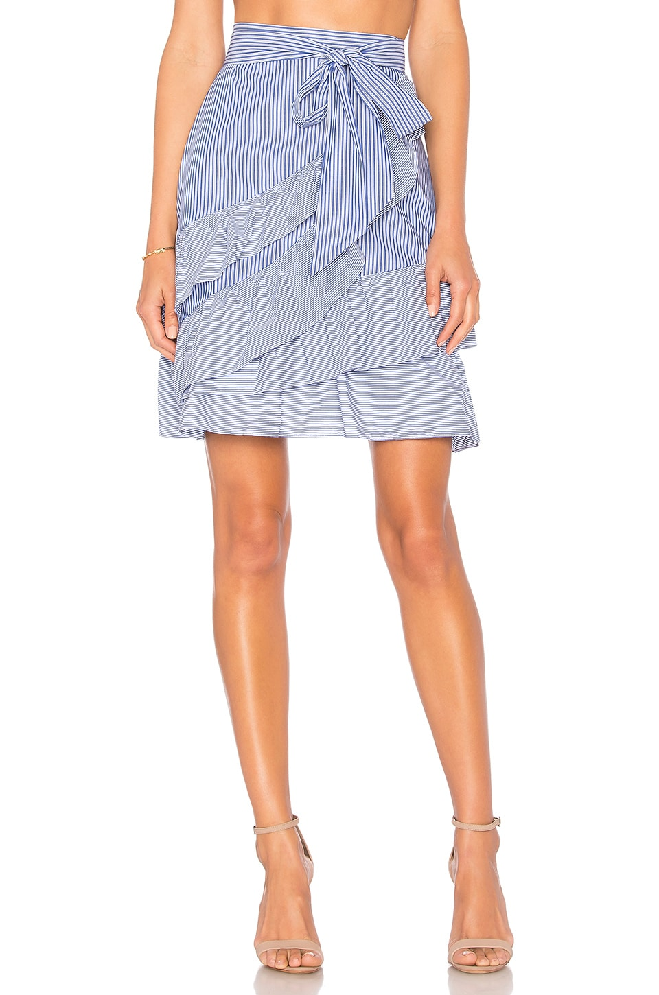 Parker Lambert Skirt in Blue & White