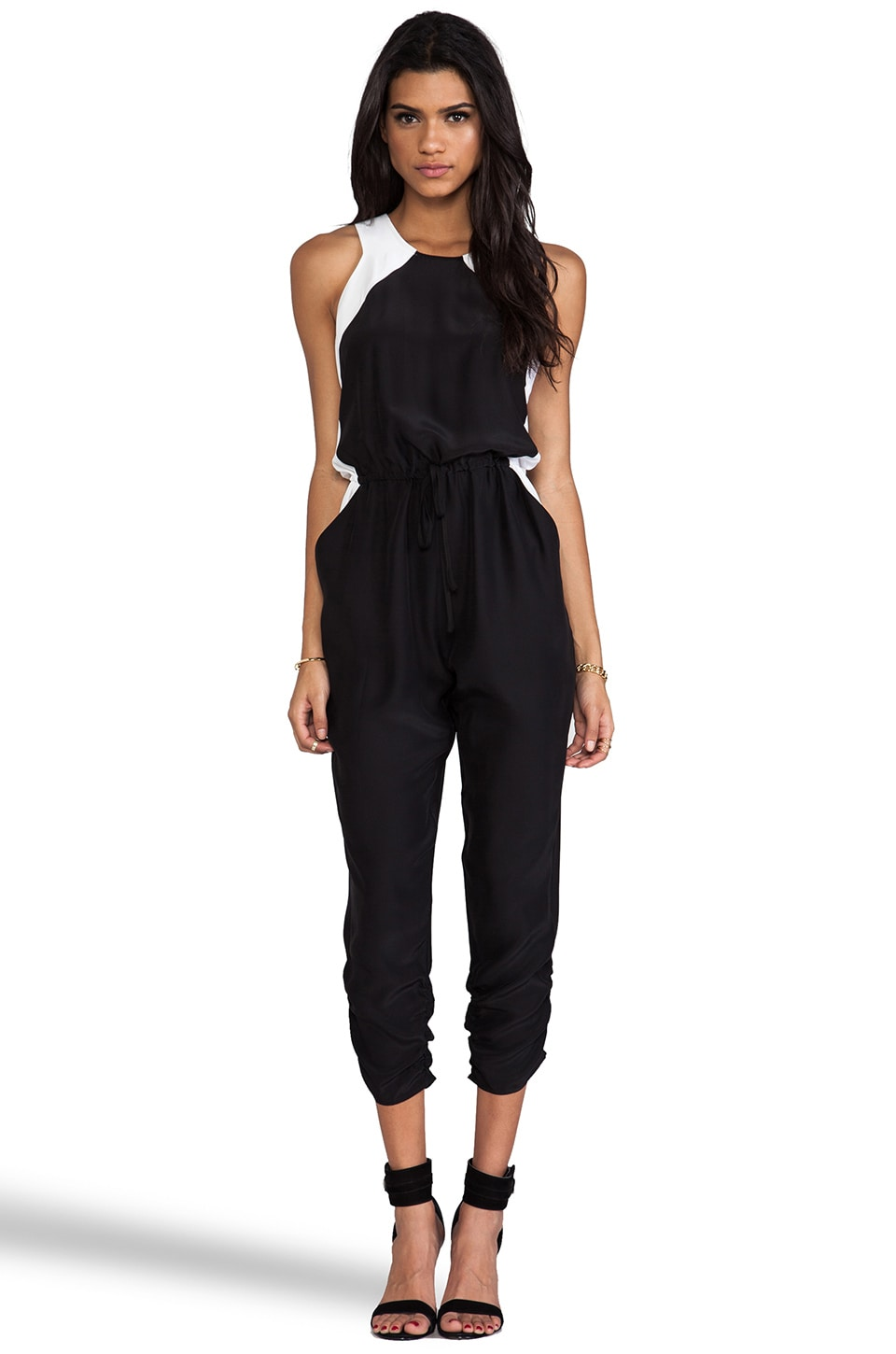 Parker Kaysha Combo Jumpsuit in Black