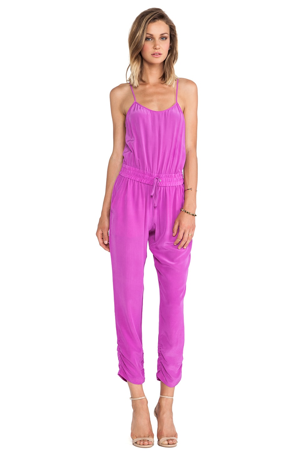 Parker Lane Jumpsuit in Electric Plum