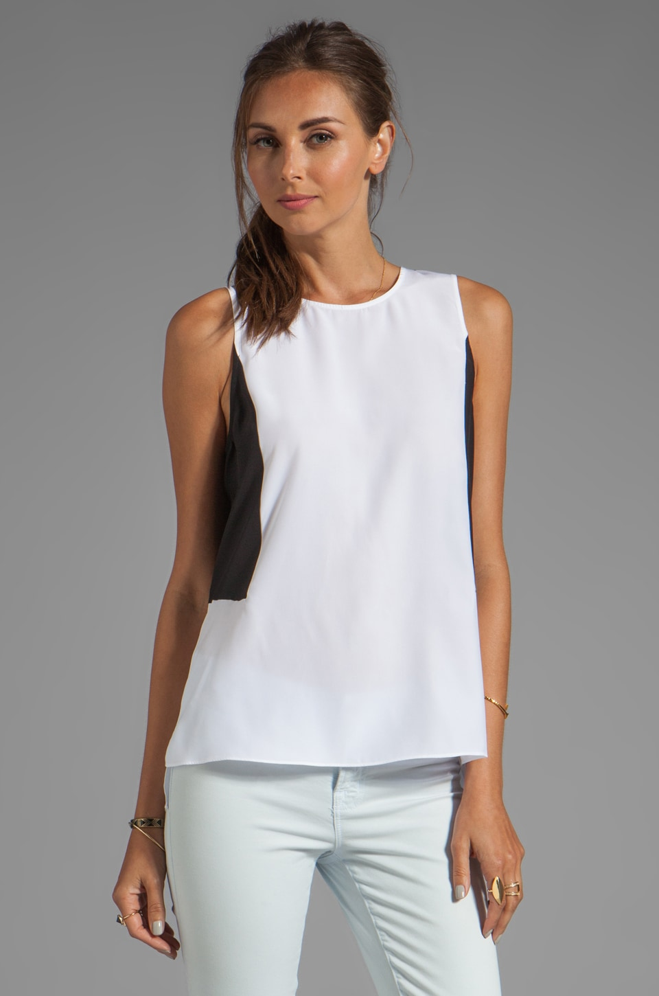 Parker Gina Combo Top in White