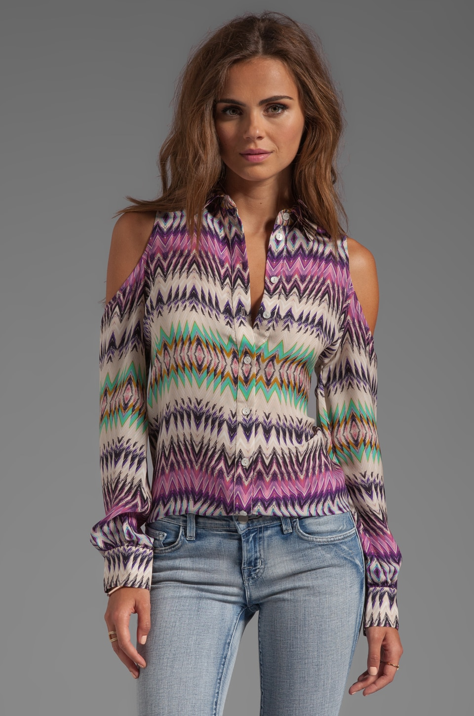 Parker Luella Open Shoulder Top in Shockwave