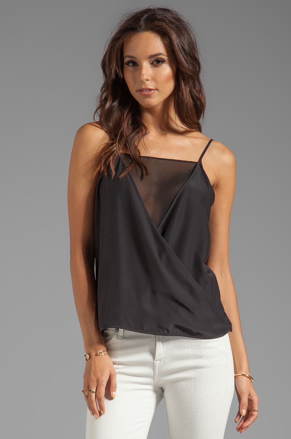 Parker Martinique Sheer Top in Black