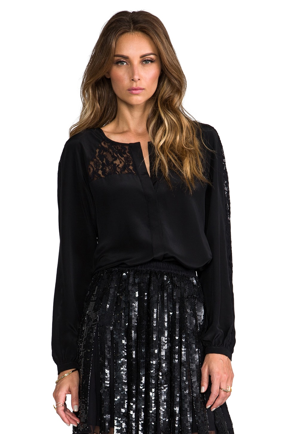 Parker Clove Blouse in Black