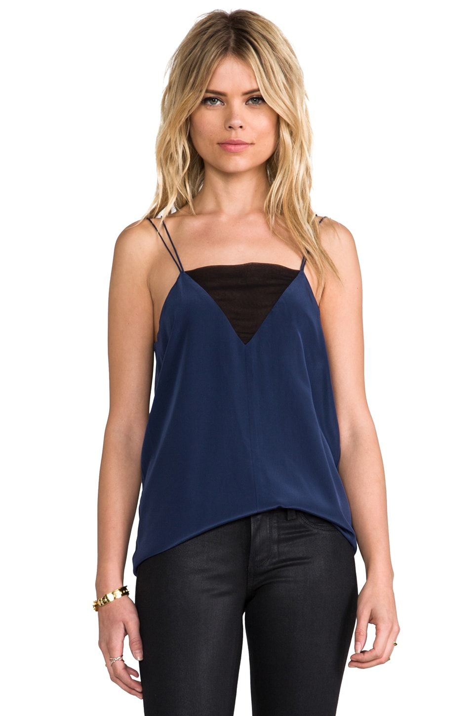 Parker Chloe Combo Top in Indigo