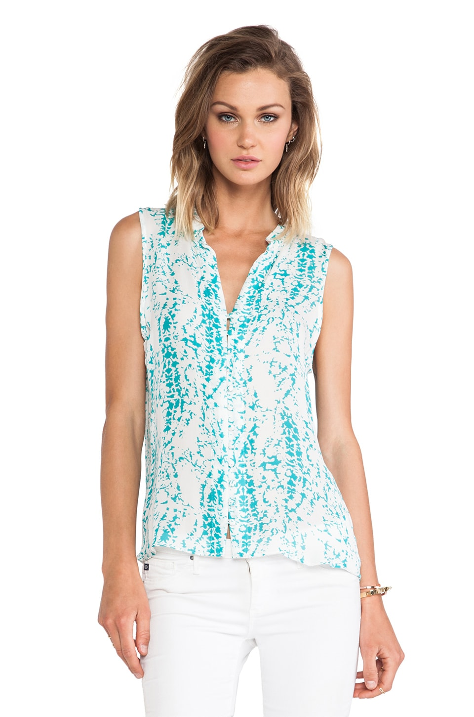 Parker Brooklyn Top in Bermuda Splatter