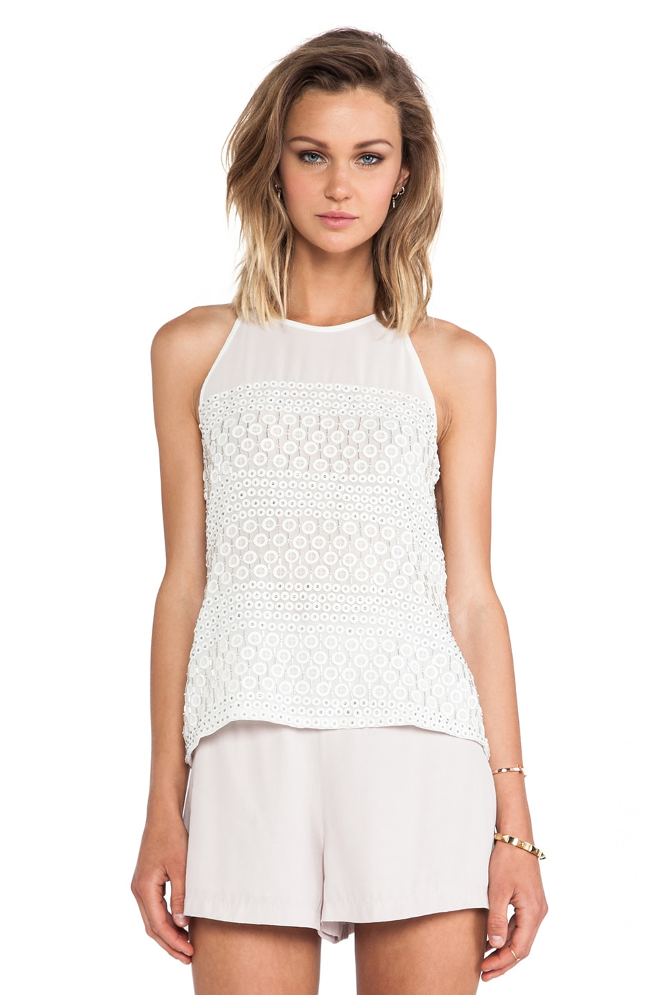 Parker Mari Top in Pearl