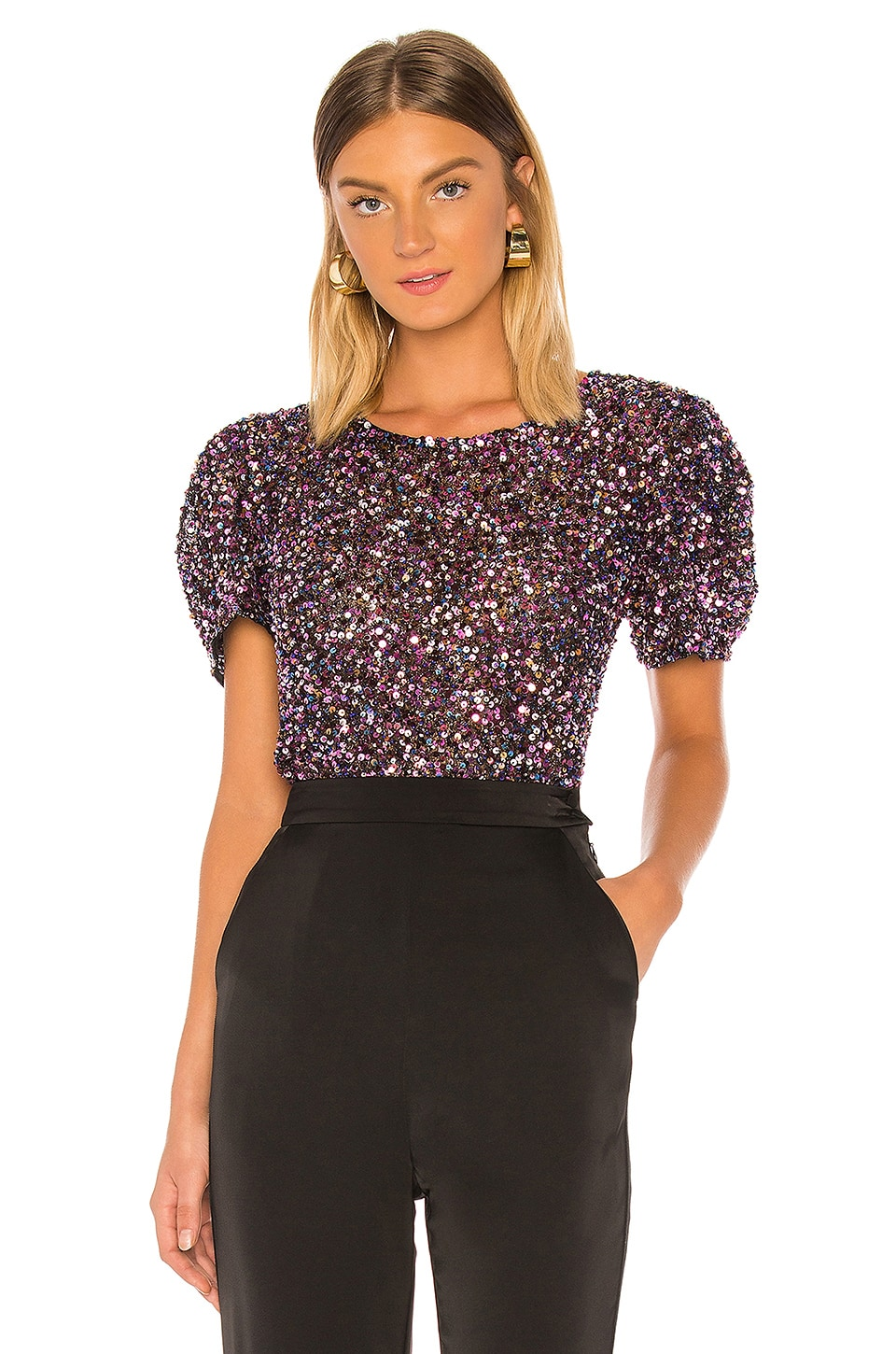 Parker Isaac Top in Black Multi