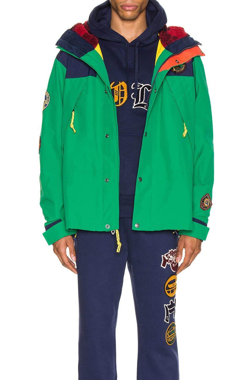 Polo Ralph Lauren Cotton Nylon Blend Anorak en Cruise Navy & Kayak Green
