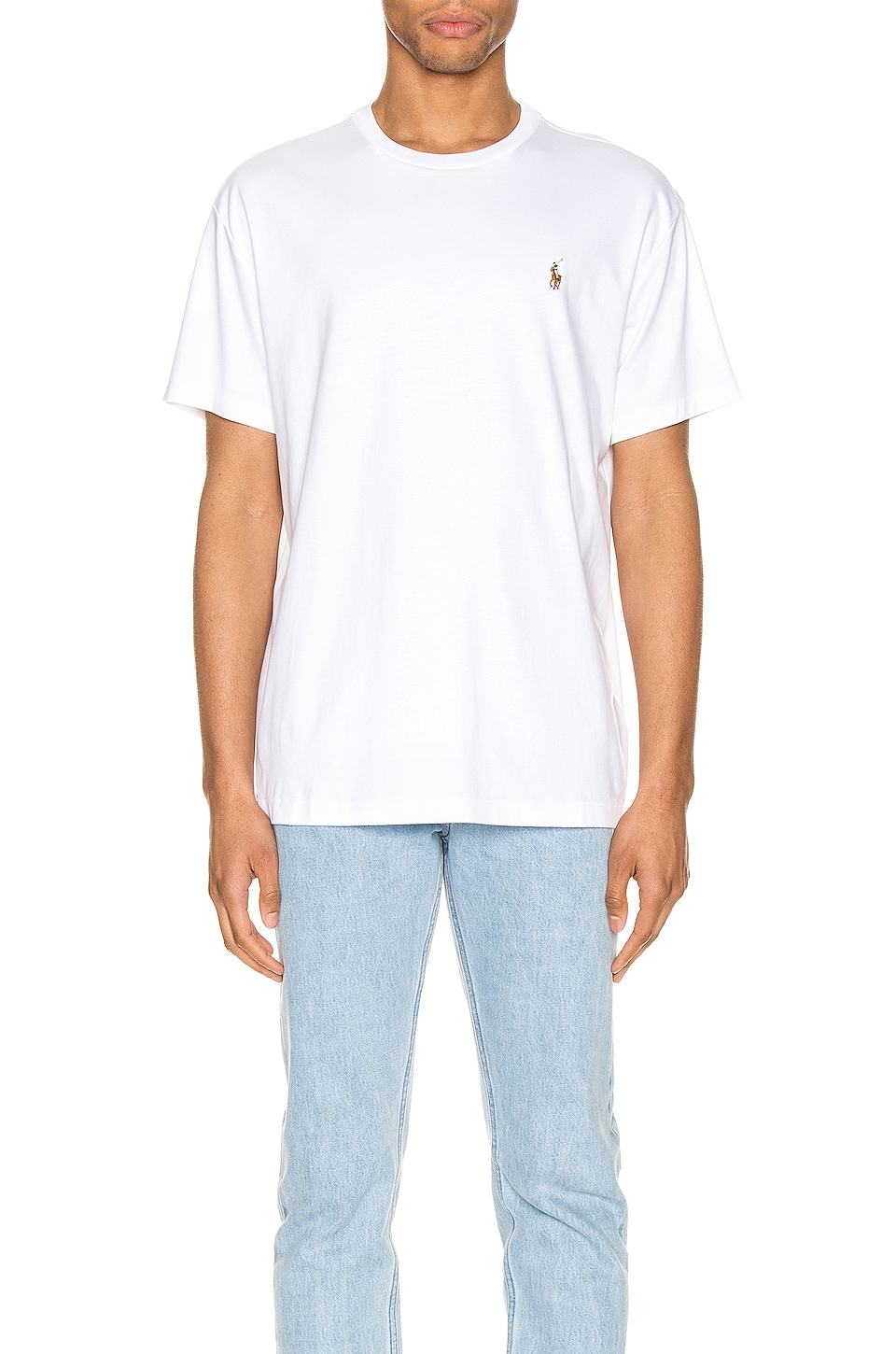 Polo Ralph Lauren Pima Short Sleeve Tee in White