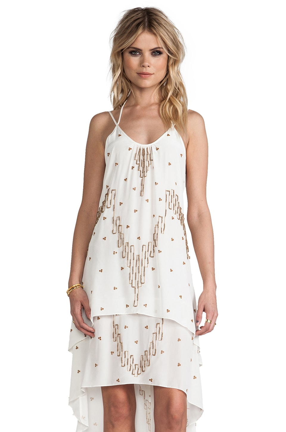 Plenty by Tracy Reese Tent Tank Dress in Ivory/Adobe