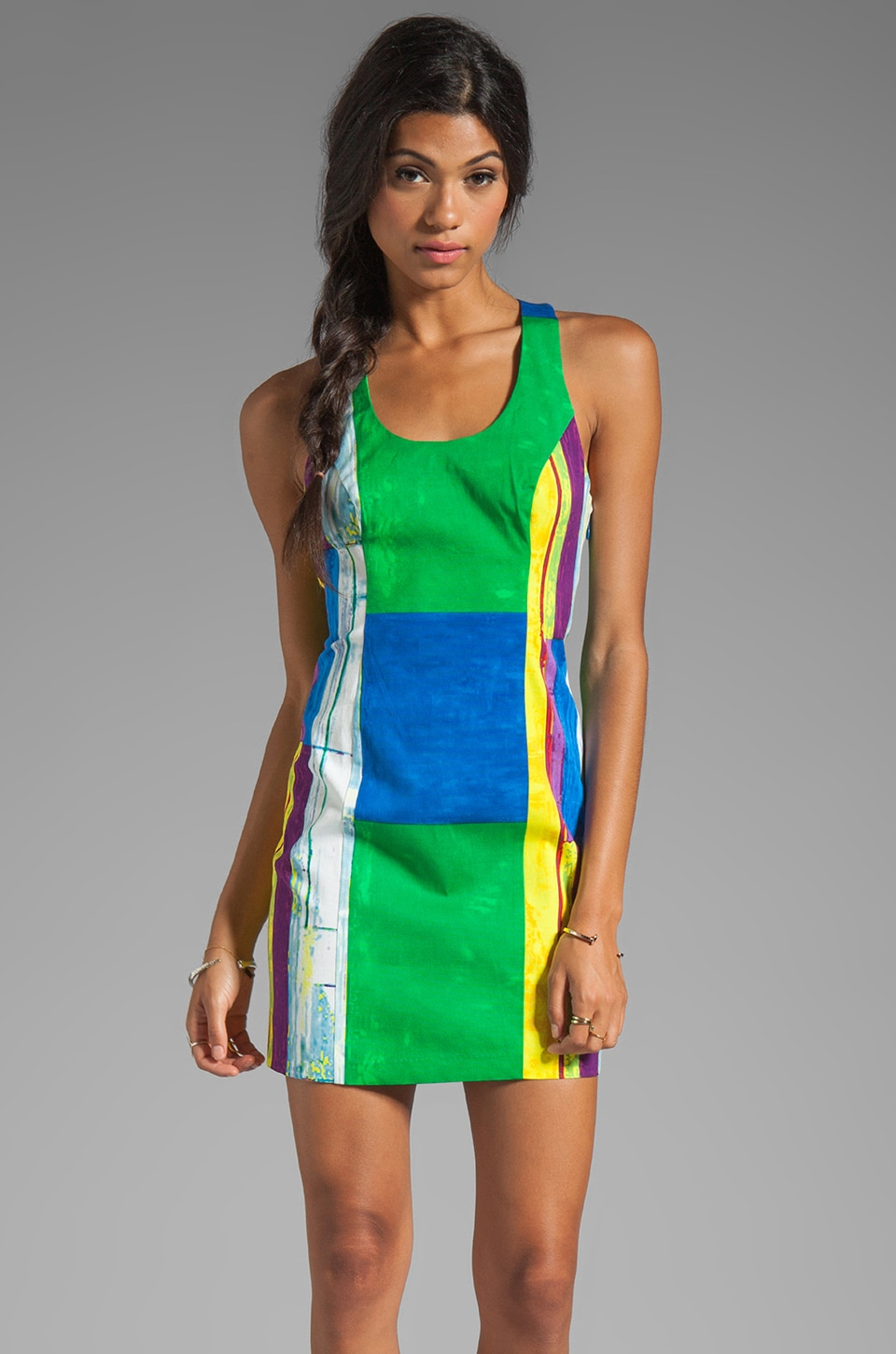 Plenty by Tracy Reese Cubist Watercolor Sexy Shift Dress in Cubist Watercolor