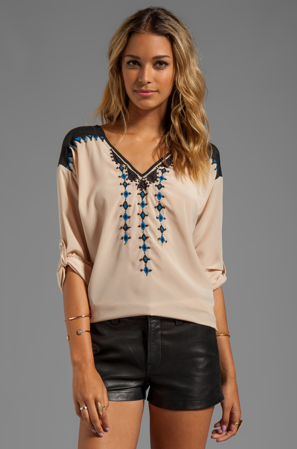 Plenty by Tracy Reese Embroidered Blouse in Marzipan