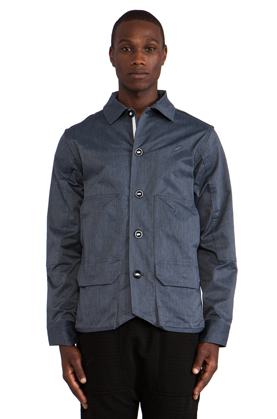 Publish Hawk Coaches Jacket in Navy