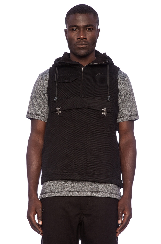 Publish Oaks Anorak Vest in Black