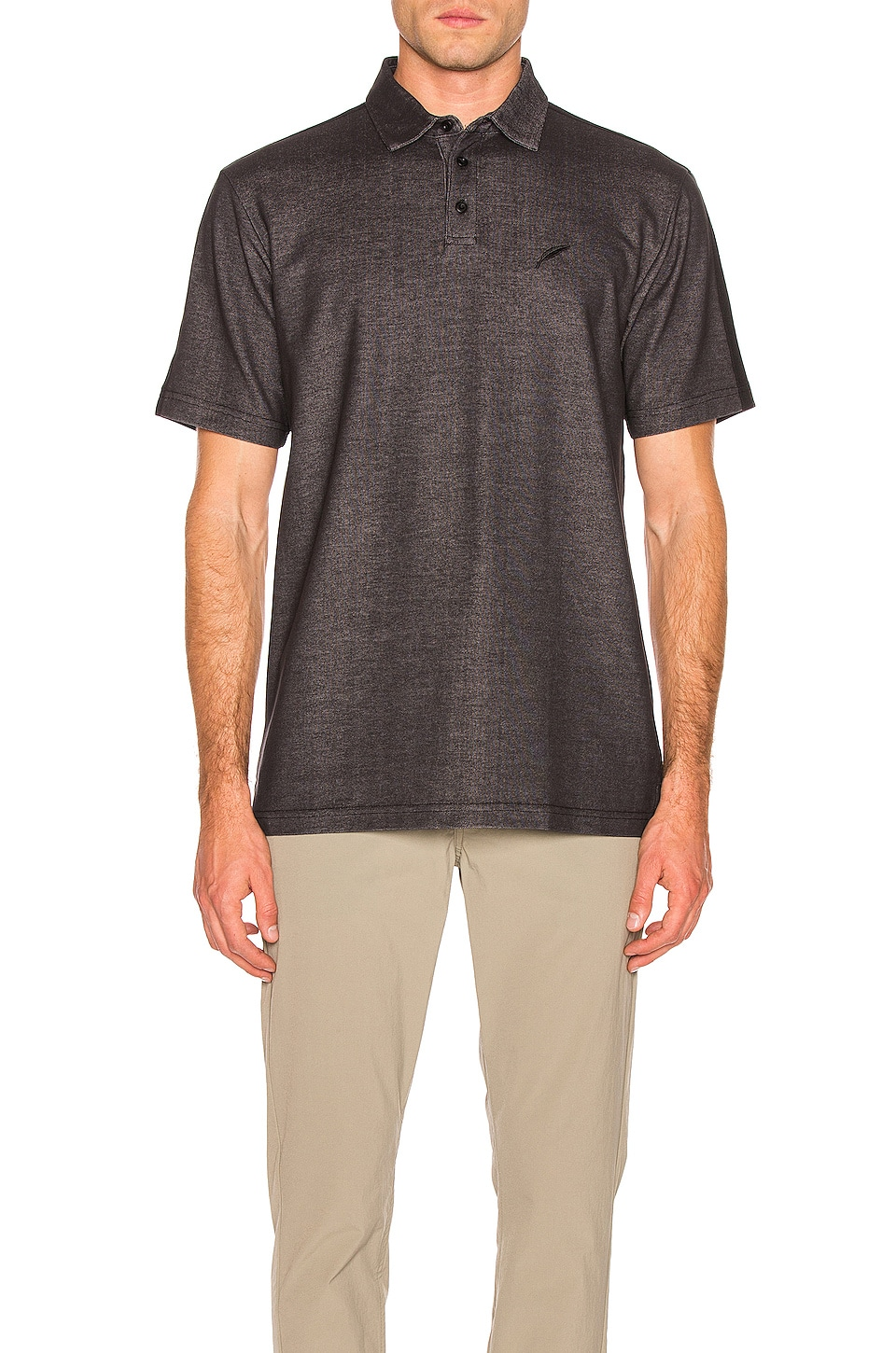 Publish Polo Tee in Charcoal