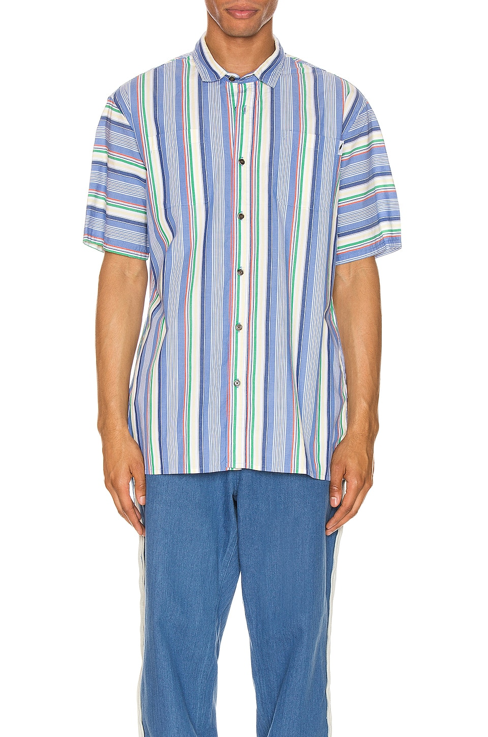 Publish Button Up in Blue