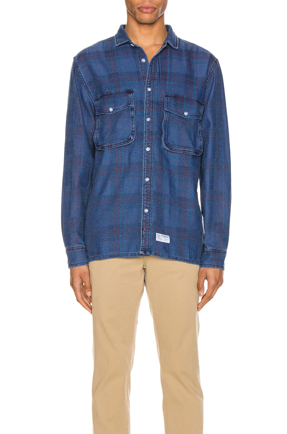 Publish Indo Long Sleeve Buton Up Shirt in Blue