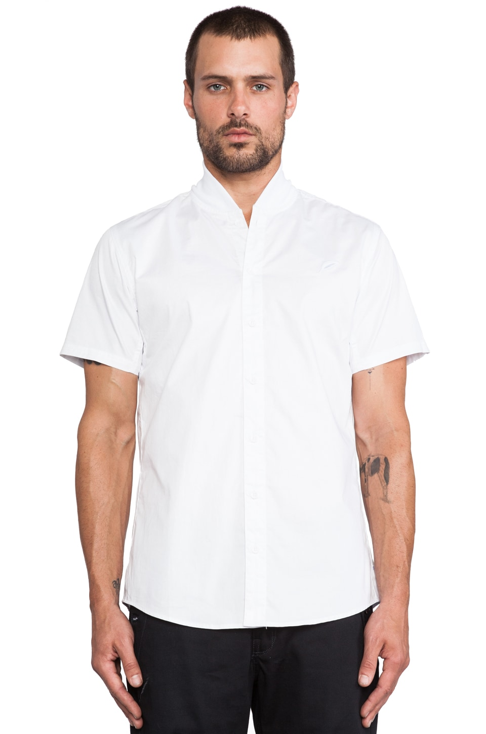 Publish Olympos Baseball Button Down in White