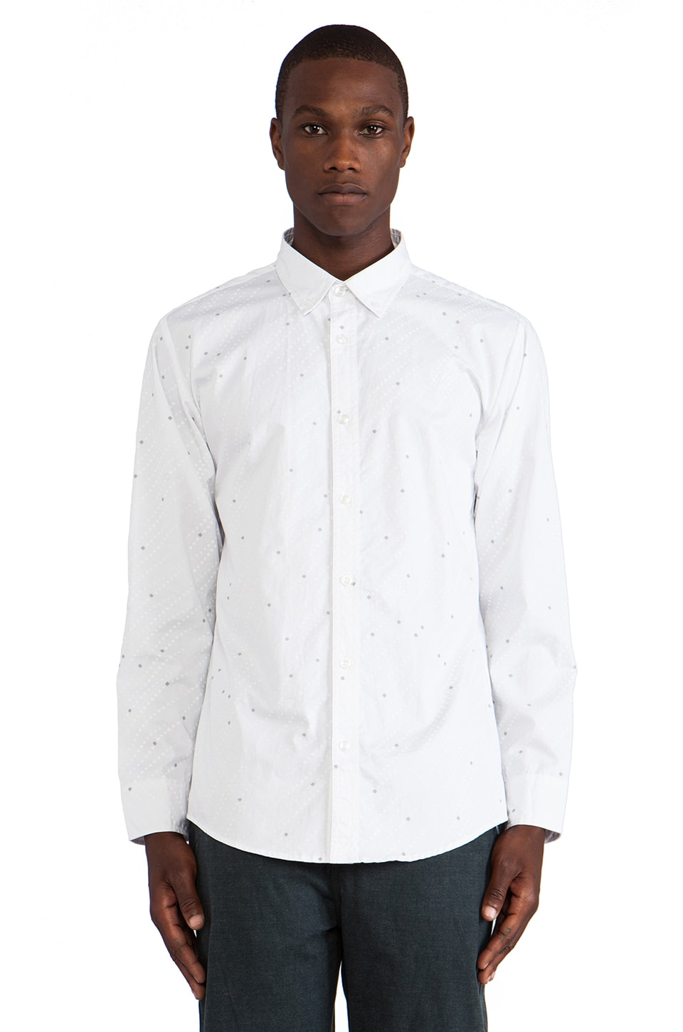Publish Archbald Button Down in White