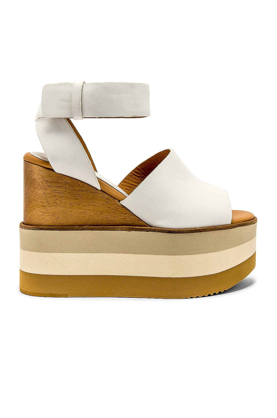 free shipping 5848f 57304 Paloma Barcelo Akane Wedge in White | REVOLVE