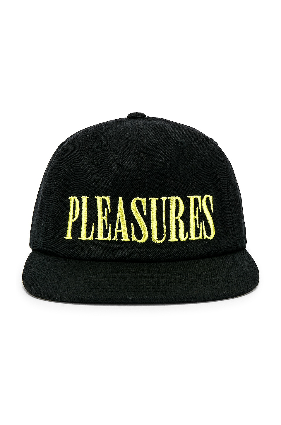 Pleasures Logo Snapback in Black