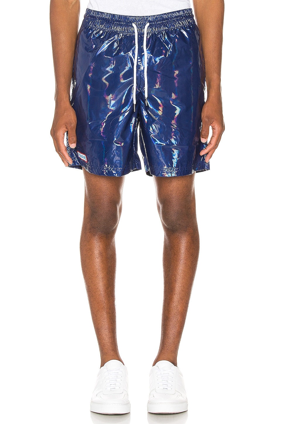 Pleasures Liquid Metallic Shorts in Navy