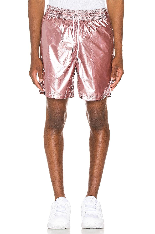 Pleasures Liquid Metallic Shorts in Pink