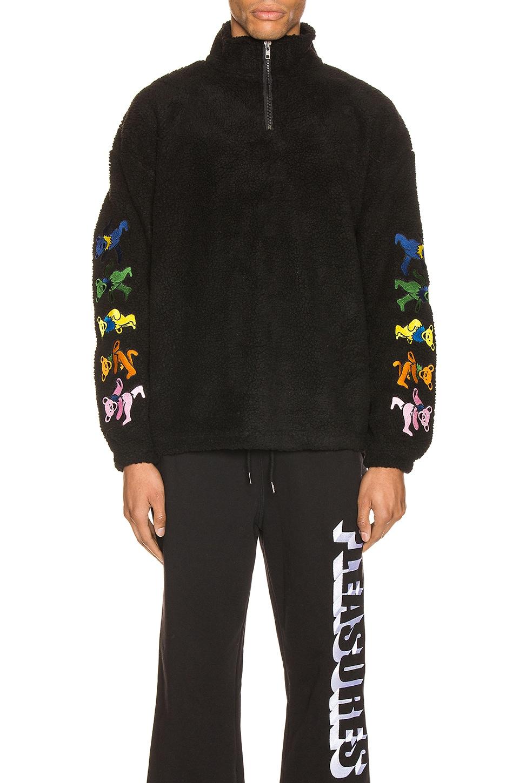 Pleasures Dead Quarter Zip Jacket in Black
