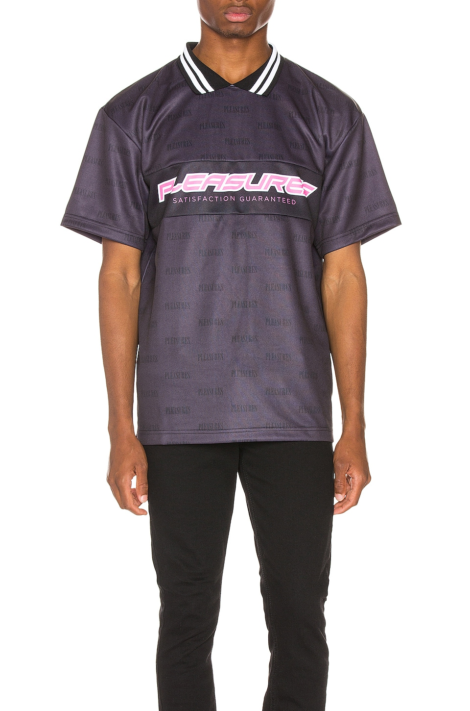 Pleasures Satisfaction Jersey in Black