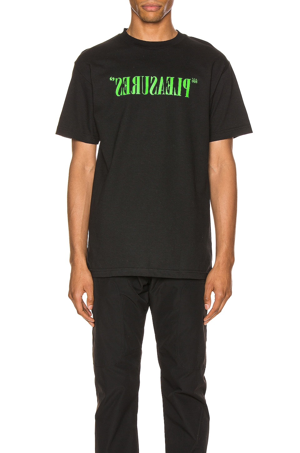Pleasures Flipped Logo Tee in Black