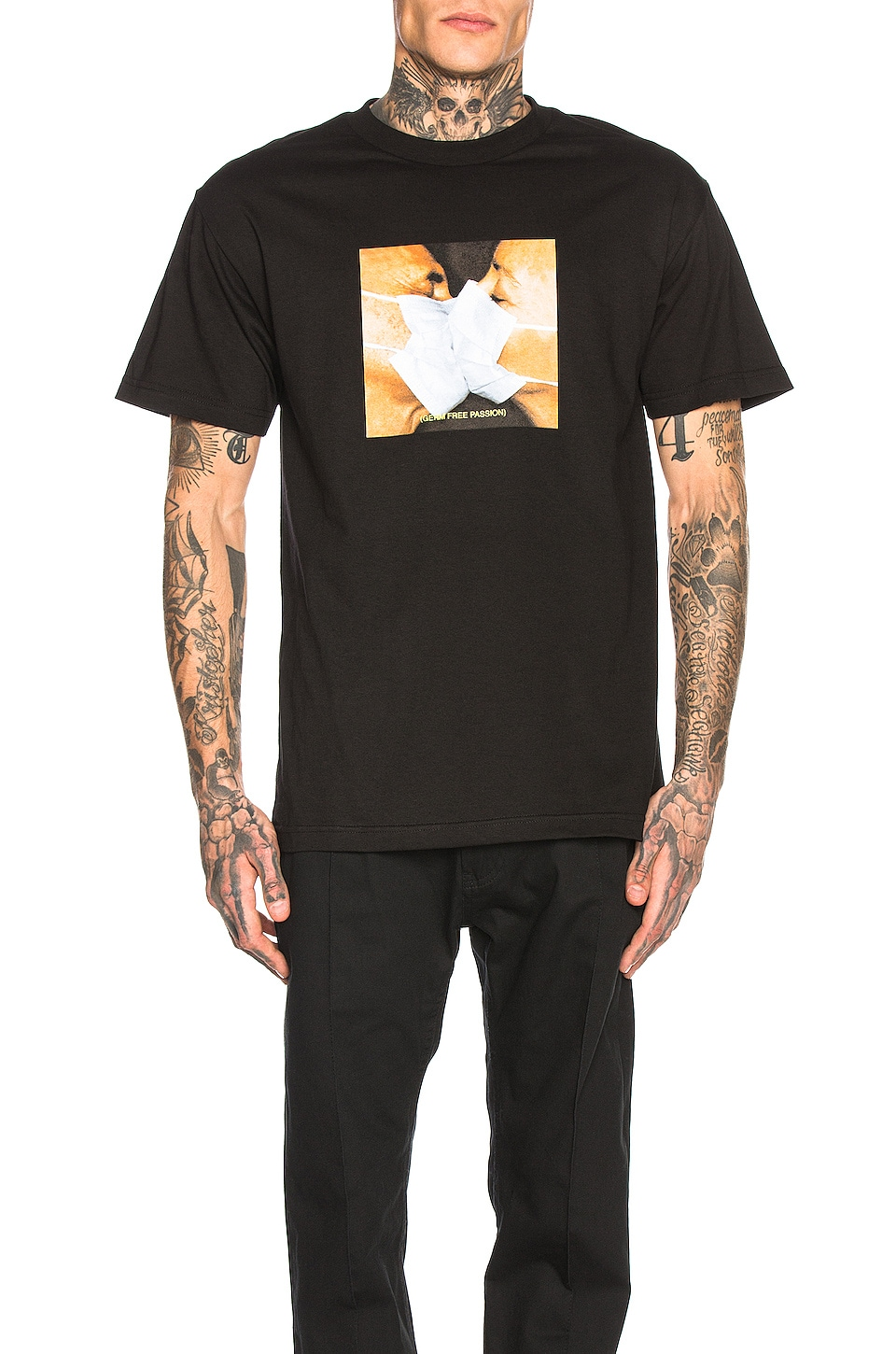 Pleasures Germ Free Tee in Black