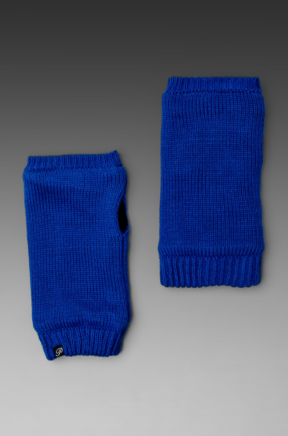 Plush Fleece Lined Neon Handwarmers in Cobalt
