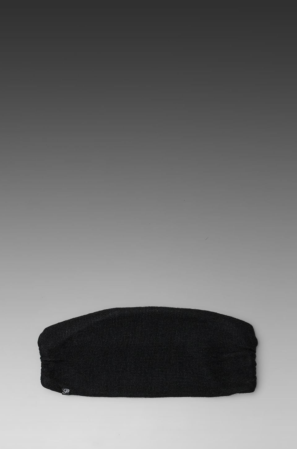 Plush Fleece Lined Knit Headband in Black