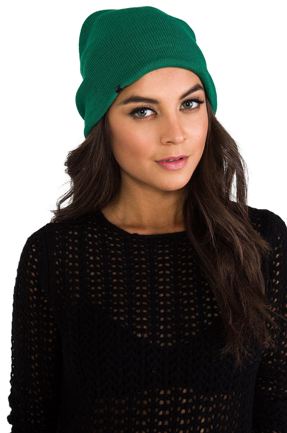 Plush Barca Slouch Beanie in Green