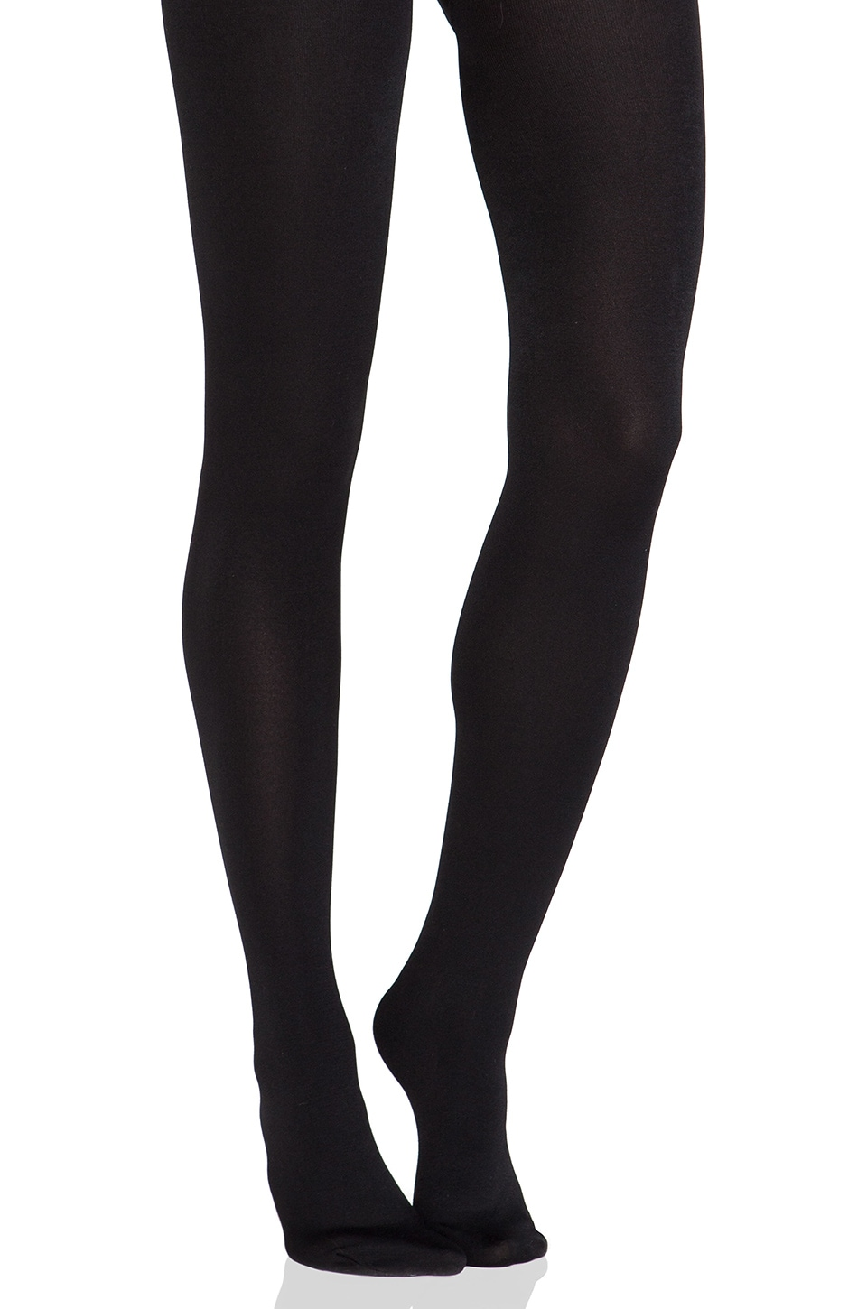 Plush Full Foot Fleece Lined Tights in Black