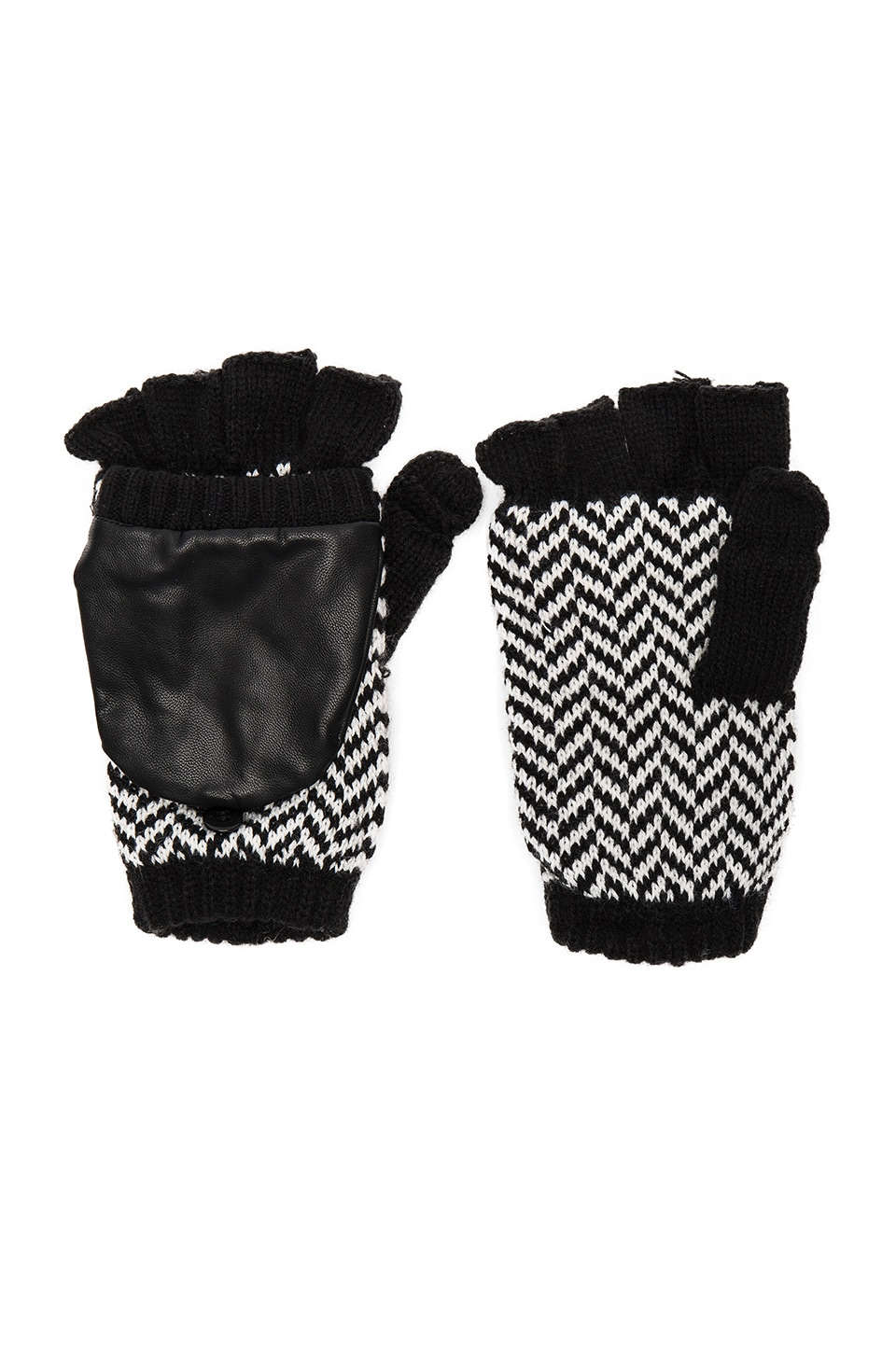 Herringbone Texting Mittens by Plush