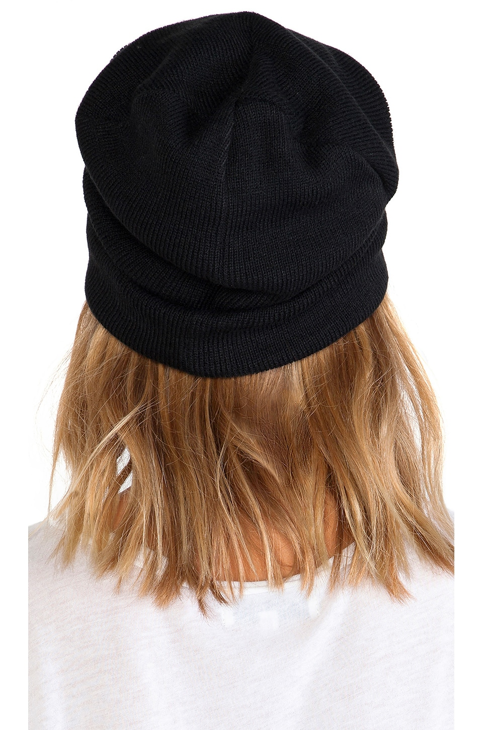 Plush Barca Slouchy Hat w/ Fleece Lining in Black
