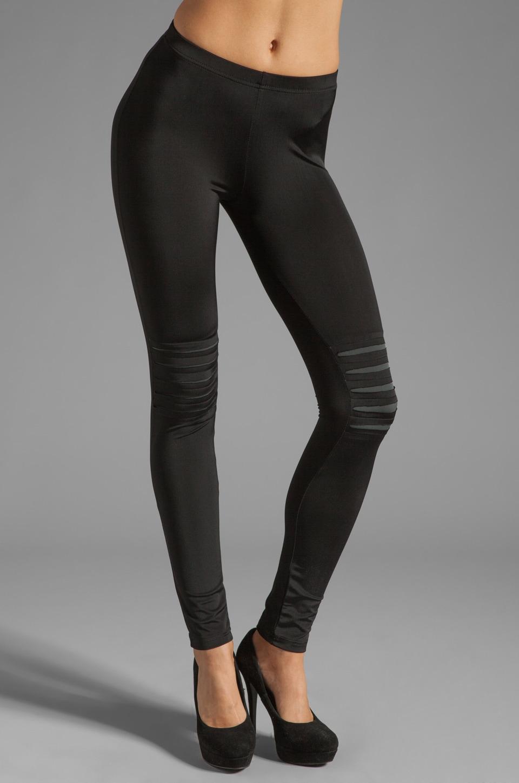 Plush Slash Legging in Black/Charcoal