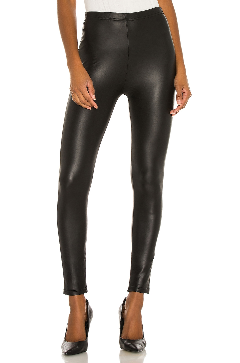 Plush Fleece Lined Liquid Legging en Black