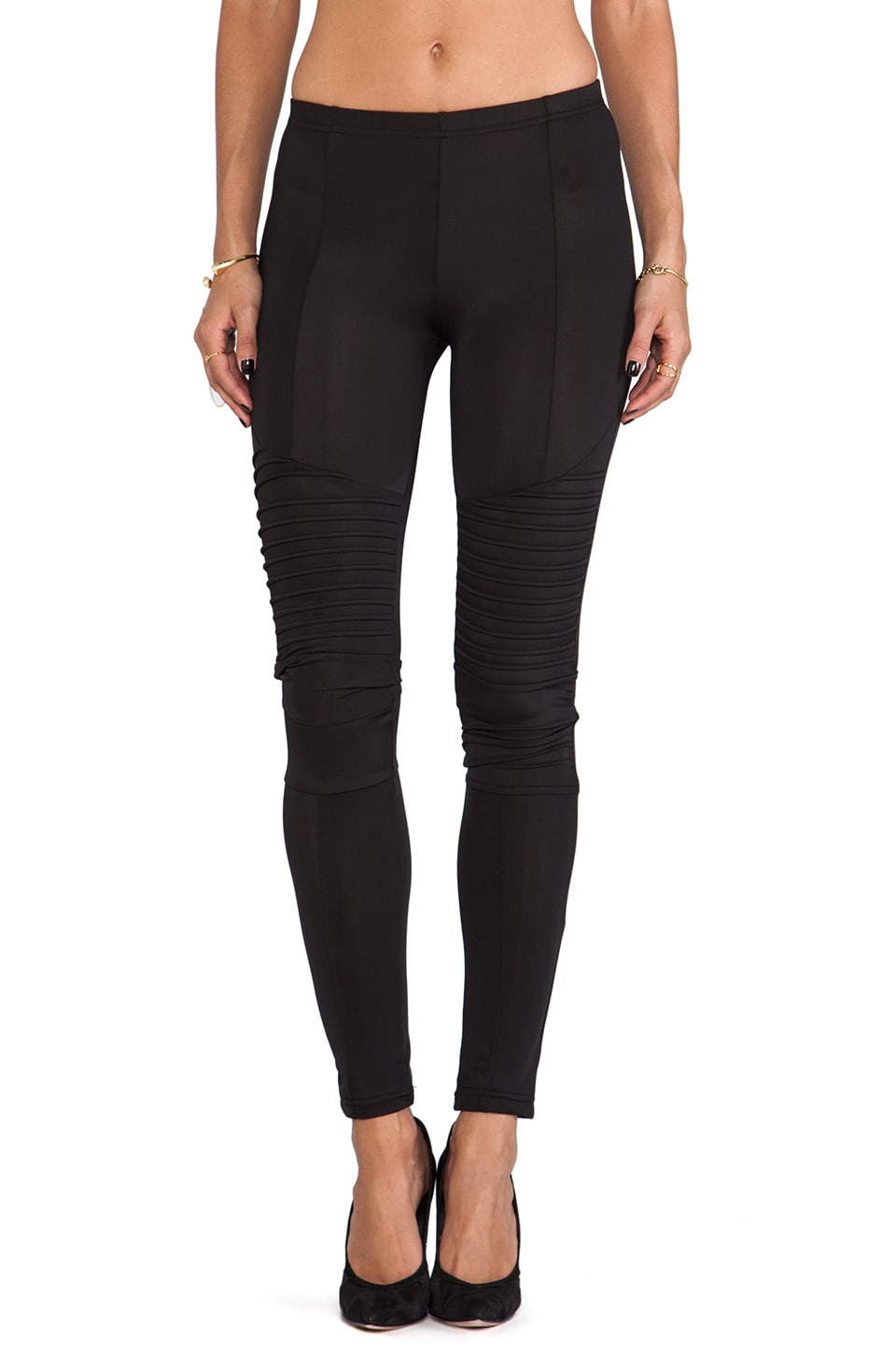 Plush Moto Legging in Black