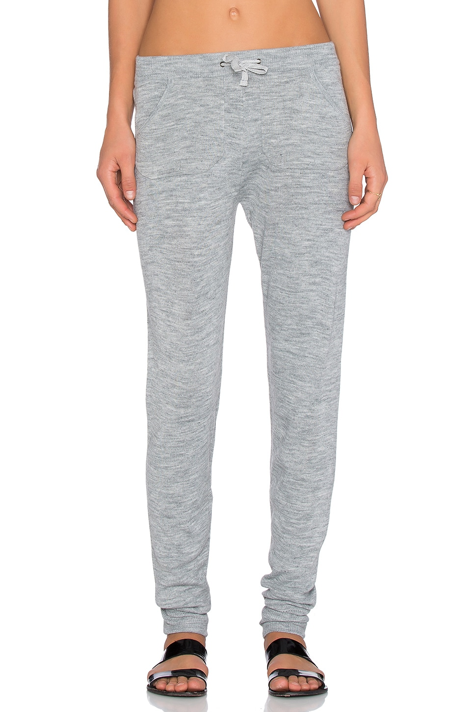Plush Sweater Legging in Heather Grey