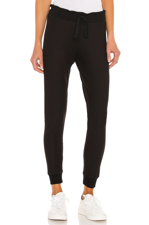 Plush Super Soft Fleece Lined Skinny Sweatpant in Black