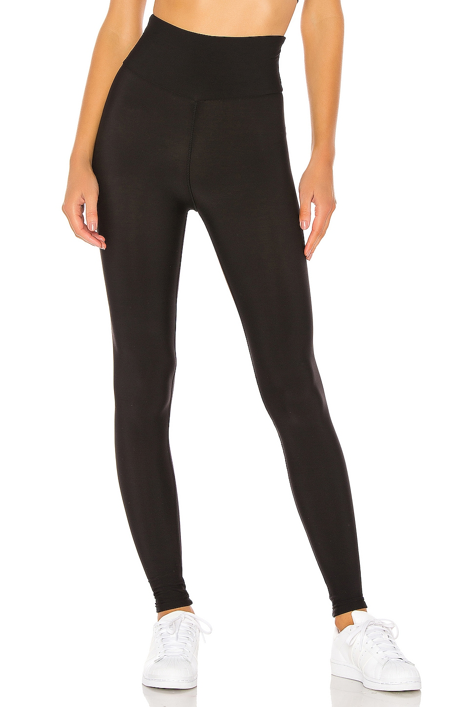 Plush Fleece Lined High Waisted Matte Legging in Black